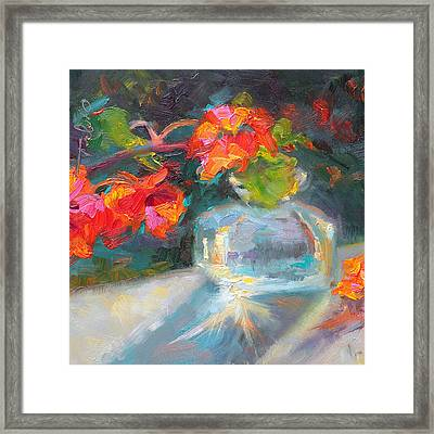Gleaning Light Nasturtium Still Life Framed Print by Talya Johnson