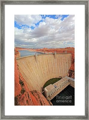 Glen Canyon Dam Framed Print by Inge Johnsson