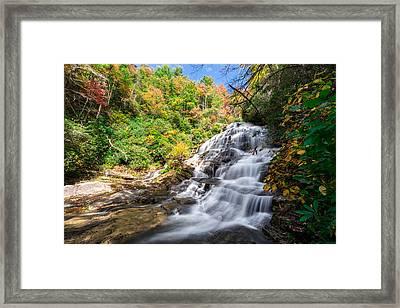 Glen Falls In North Carolina Framed Print by Andres Leon