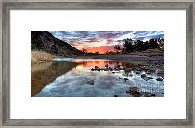 Glen Helen Gorge Sunset Framed Print by Bill  Robinson