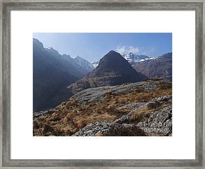 Glencoe Peaks Framed Print by Phil Banks