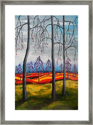 Glimpse Of Autumn Framed Print by Kathy Peltomaa Lewis