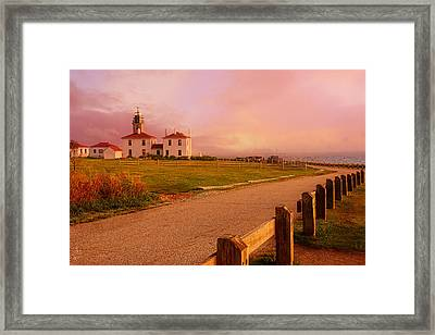 Glisten- Beavertail Park Rhode Island Framed Print by Lourry Legarde