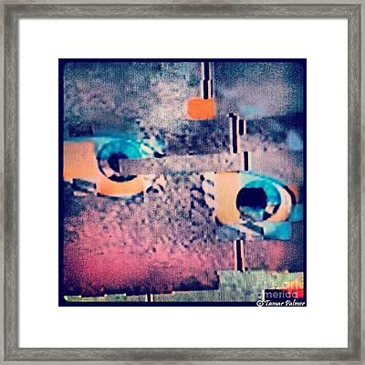 Glitch Focused On Away  Framed Print by Tamar Palmer