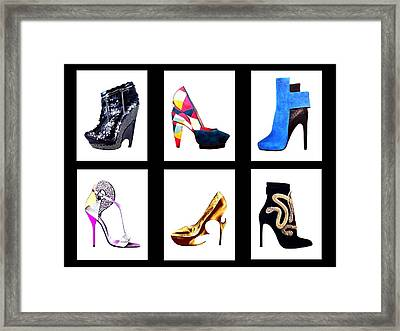 Glitter And Gold Framed Print by Cindy Edwards
