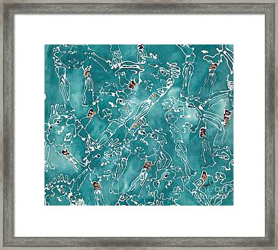 Glittering World Framed Print by Barb Maul