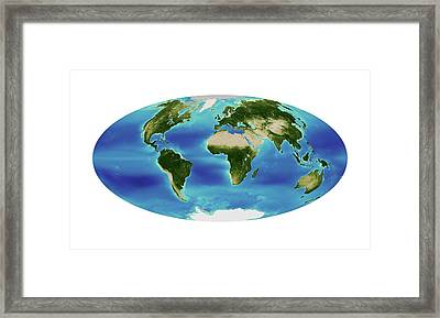 Global Chlorophyll Levels Framed Print by Nasa Earth Observatory/ocean Color Web/geoeye
