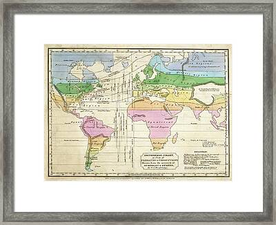 Global Climate Map Framed Print by Stephen A. Schwarzman Building/the Lionel Pincus And Princess Firyal Map Division/new York Public Library