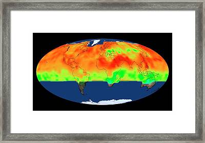 Global Co2 Concentrations Framed Print by Nasa's Scientific Visualization Studio