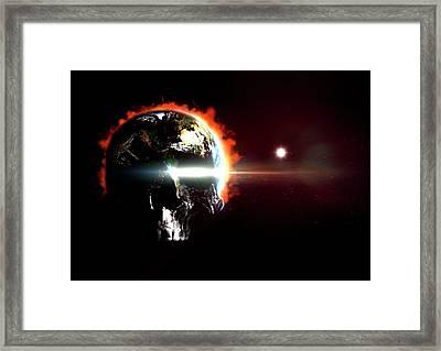 Global Destruction Framed Print by Animate4.com/science Photo Libary