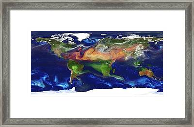 Global Dust And Aerosol Framed Print by William Putman, Nasa