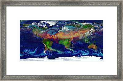 Global Dust Levels Framed Print by William Putman/nasa Goddard Space Flight Center