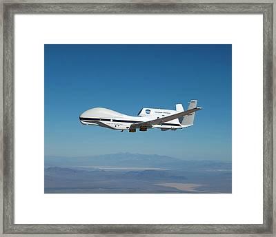 Global Hawk Unmanned Aerial Vehicle Framed Print by Nasa/tom Miller