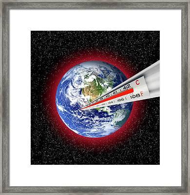 Global Warming Concept Framed Print by Victor De Schwanberg