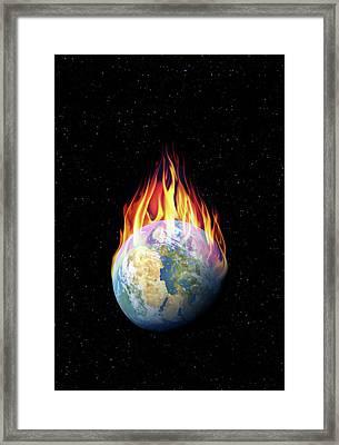 Global Warming Framed Print by Detlev Van Ravenswaay