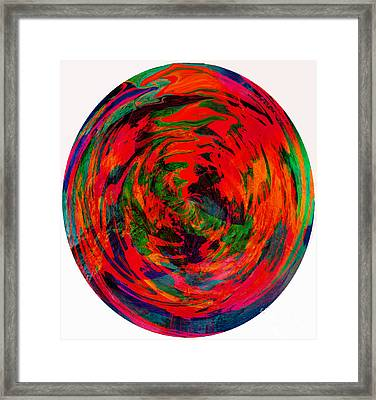 Global Warming - Hot Earth - Abstract Framed Print by Barbara Griffin