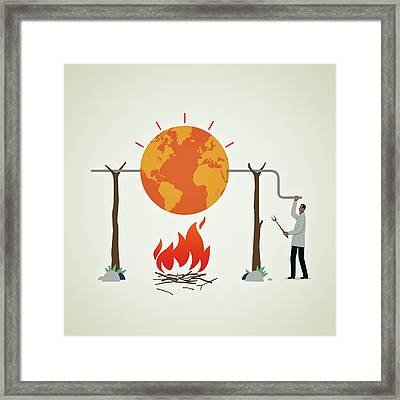 Global Warming Framed Print by Mark Airs
