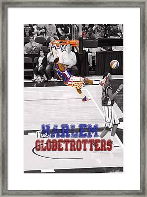 Globetrotters Super Slam Framed Print by Robert Saunders Jr