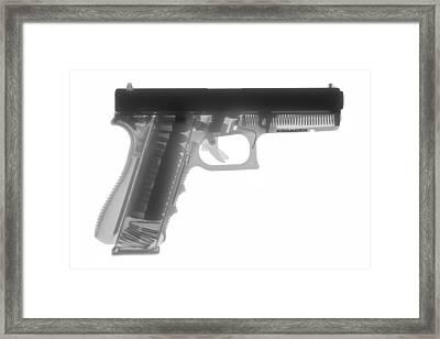 Glock G17 Framed Print by Ray Gunz