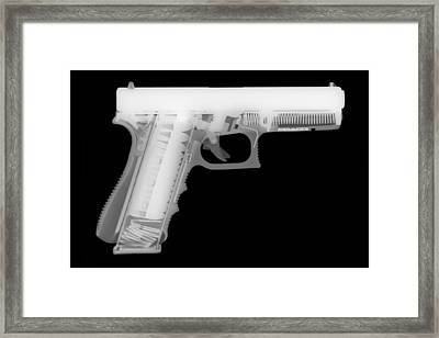 Glock G17 Reverse Framed Print by Ray Gunz
