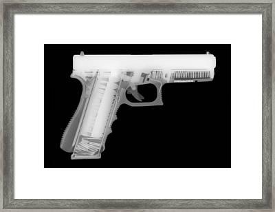 Glock G17 Reverse Framed Print by Ray Gunz