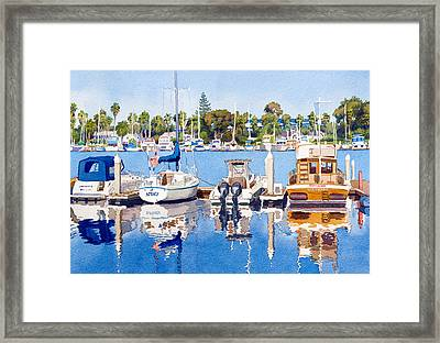 Glorietta Bay Marina Framed Print by Mary Helmreich