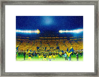 Glory At The Big House Framed Print by John Farr