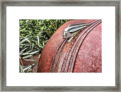 Glory Days Pontiac Chief Hood Ornament Framed Print by JC Findley