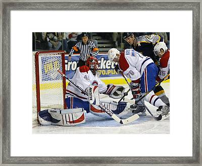 Glove Save In Traffic Framed Print by Don Olea