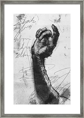 Glove Study Framed Print by H James Hoff