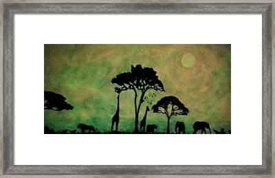 Glow In The Dark Safari Framed Print by Twilight Vision