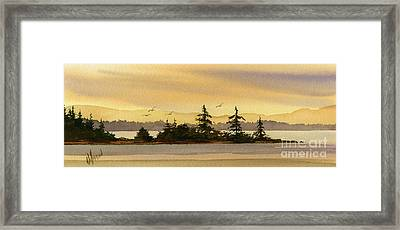 Glow Of Dawn Framed Print by James Williamson