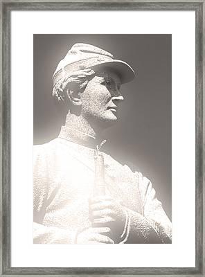 Glowing Antietam Statue Framed Print by Don Johnson