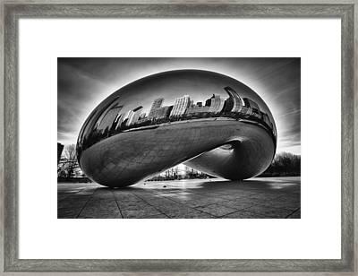 Glowing Bean Framed Print by Sebastian Musial