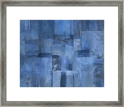 Glowing Blues Framed Print by Lee Ann Asch