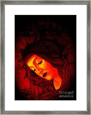 Glowing Botticelli Madonna Framed Print by Genevieve Esson