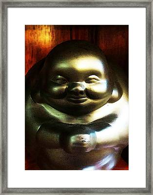 Glowing Buddha - Zen Art By Sharon Cummings Framed Print by Sharon Cummings