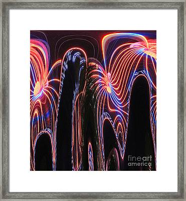 Glowing Curves Framed Print by Marian Bell
