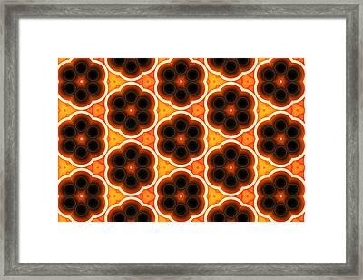 Glowing Floral Pattern Framed Print by Hakon Soreide