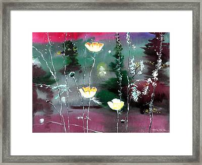 Glowing Flowers Framed Print by Anil Nene