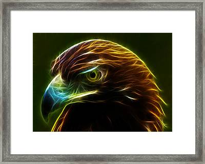 Glowing Gold Framed Print by Shane Bechler