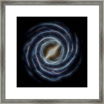 Glowing Milky Way Framed Print by Dan Sproul