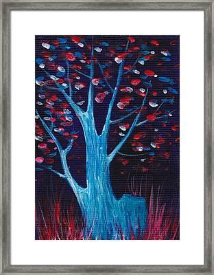 Glowing Night Framed Print by Anastasiya Malakhova