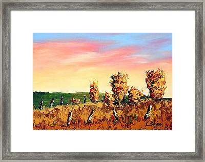 Glowing Passion Framed Print by Andrew Sanan