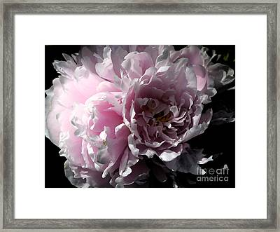 Glowing Pink Peony Framed Print by Christiane Schulze Art And Photography