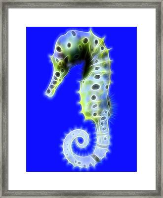 Glowing Seahorse Framed Print by Dan Sproul