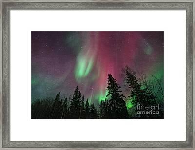 Glowing Skies Textured Framed Print by Priska Wettstein