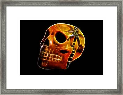 Glowing Skull Framed Print by Shane Bechler