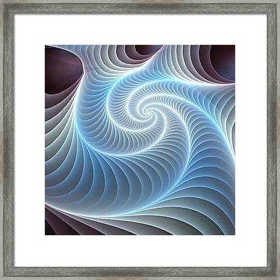 Glowing Spiral Framed Print by Anastasiya Malakhova
