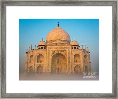Glowing Taj Mahal Framed Print by Inge Johnsson